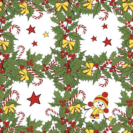 Christmas snowman card. Merry christmas icon set. Vector festive illustration. Leaf nature icon vector. Vector banner. Vector vintage illustration. Winter season illustration. Xmas holiday. Illusztráció