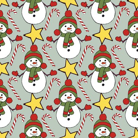 Vintage seamless pattern with vector holly pattern for paper design. Happy new year decoration. Vector graphic. Vector festive illustration. Holly berry christmas icon. Season greeting. Stock fotó - 133450118