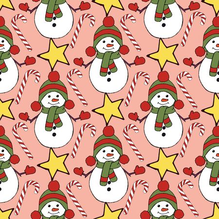 Vintage seamless pattern with vector holly pattern for paper design. Happy new year decoration. Vector graphic. Vector festive illustration. Holly berry christmas icon. Season greeting. Stock fotó - 133450149