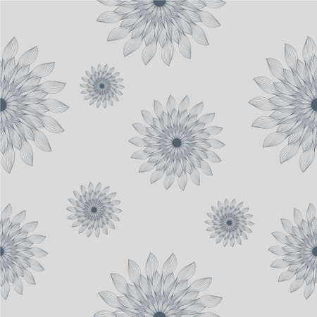 pattern gray flower Illustration