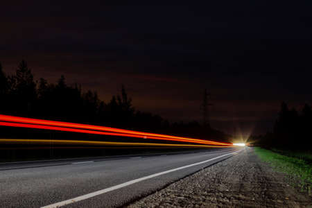 rearlights on a country night highway Stockfoto