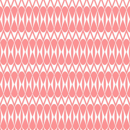 The geometric pattern with stripes. Seamless vector background. White and pink texture. Graphic modern pattern. Illustration