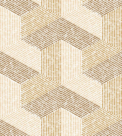Geometric beige texture. A seamless vector background. Çizim