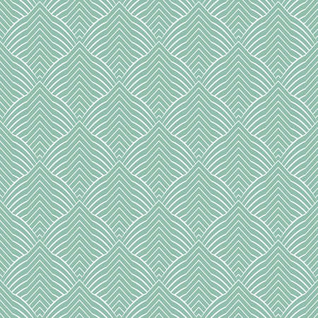 The geometric pattern with lines seamless vector background. Green and white texture graphic modern pattern.