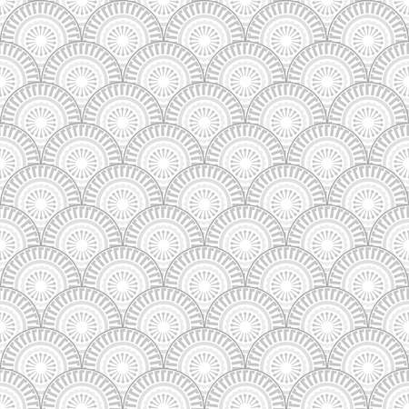 Abstract geometric pattern. Seamless vector background. Grey and white ornament Illustration