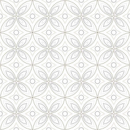 Stylish abstract geometric pattern with points. A seamless vector background.   Grey and white graphic pattern.