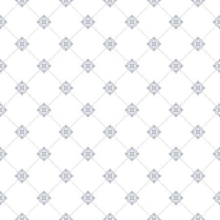 Floral pattern wallpaper baroque, damasks seamless vector background. Blue and white ornament graphic modern pattern.