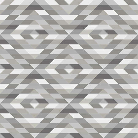 Abstract geometric patern with rhombuses. A seamless vector background. Grey texture. Graphic modern pattern Stock Illustratie