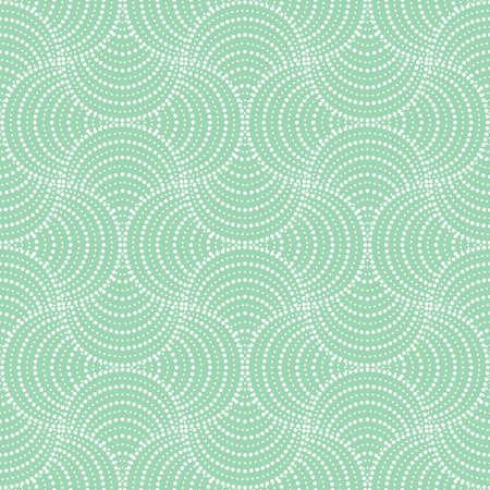 Graphic green and white pattern
