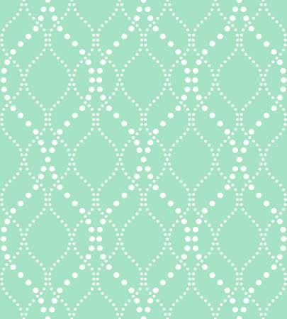 Abstract geometric pattern of the points, lines. A seamless vector background. Graphic green and white pattern Illustration