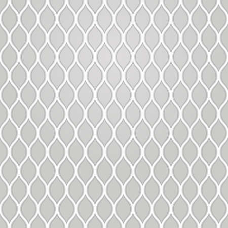 The geometric pattern with wavy lines. Seamless vector background. Gray texture..