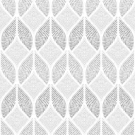 Abstract geometric pattern of the points, lines. A seamless vector background. Graphic grey and white pattern. Illustration