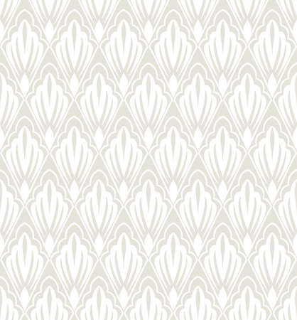 Floral pattern. Wallpaper seamless vector background. Grey and white ornament. Graphic modern pattern