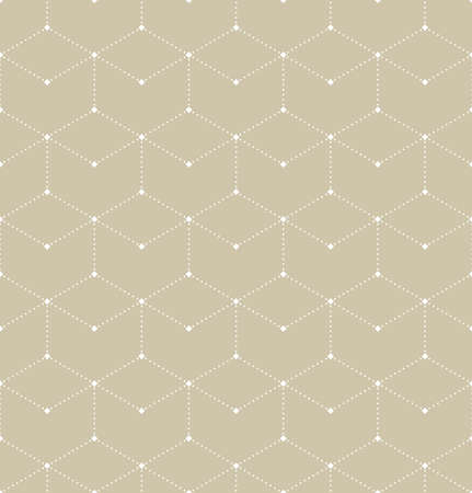 The geometric pattern of squares and dots. Seamless vector background. Beige and white texture.