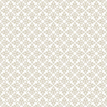 Floral pattern. Wallpaper seamless vector background. Beige and white ornament. Graphic modern pattern 矢量图像