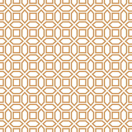 Abstract geometric pattern with squares, lines. A seamless vector background. Gold and white pattern. Illustration