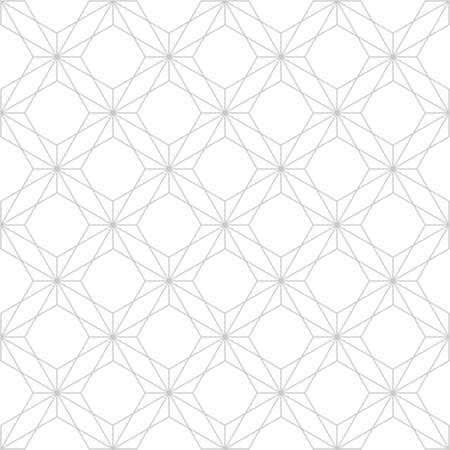 The geometric pattern with lines. Seamless vector background. White and grey texture. Graphic modern pattern. Ilustração
