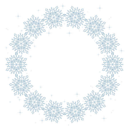 Blue Christmas design with space for text.