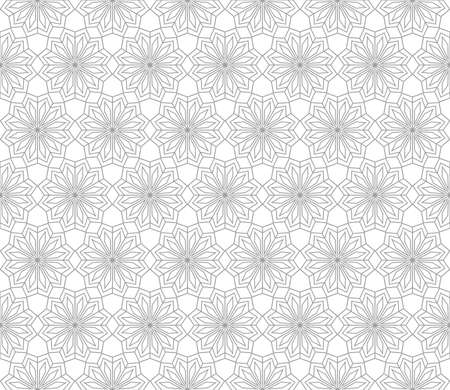 The geometric pattern with lines. Seamless vector background. White and grey texture. Graphic modern pattern.
