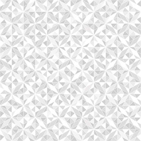 Abstraktes geometrisches Muster . Ein nahtloser Vektorhintergrund . Weiße und graue Verzierung . Geometrisches Muster der Mode Vektorgrafik