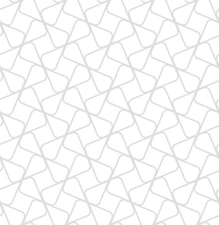 The geometric pattern with lines. Seamless vector background. White and grey texture. Graphic modern pattern.  イラスト・ベクター素材