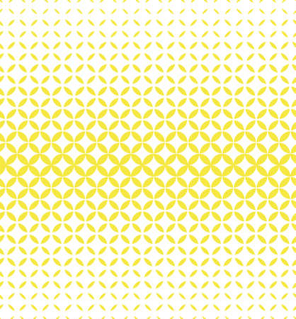 Abstract geometric pattern with circles. A seamless vector background. White and yellow ornament. Graphic modern pattern