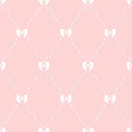 The geometric pattern with lines. Seamless vector background. White and pink texture. Graphic modern pattern