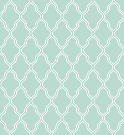 Abstract geometry pattern in Arabian style. Seamless vector background. White and blue graphic ornament