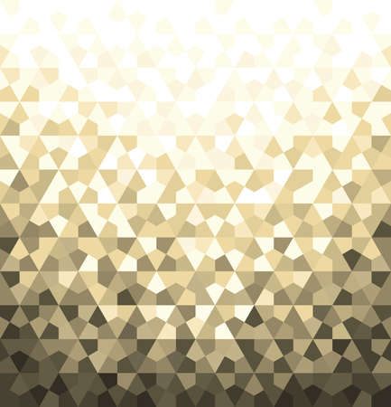 Abstract geometric pattern vector background. White and gold ornament, graphic modern pattern. Ilustração