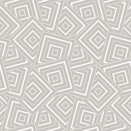 Abstract geometric pattern with squares white and grey ornament.