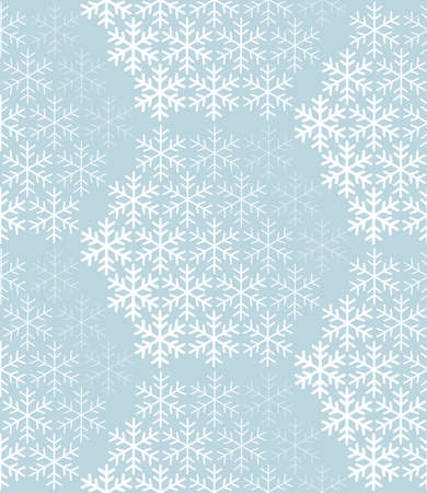 Abstract geometric pattern with snowflakes. Vector background. White and blue ornament. Graphic modern pattern