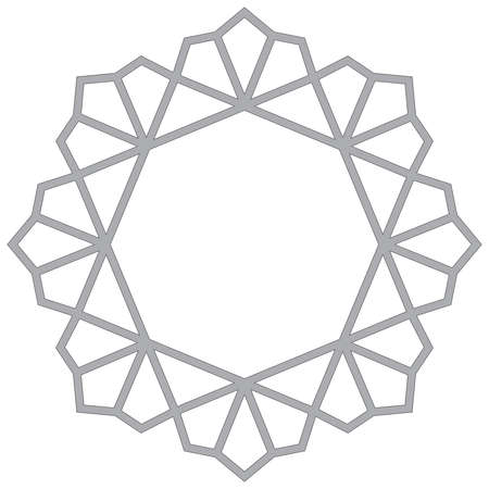 Decorative frame. Elegant vector element for design in Eastern style, place for text. Grey outline floral border. Lace illustration for invitations and greeting cards.