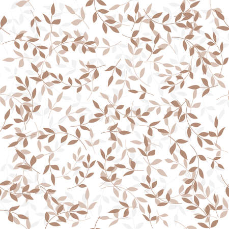 Foliar pattern. Seamless white and gray ornament. Graphic background Иллюстрация