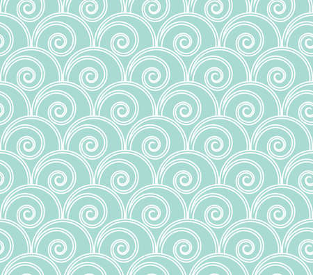 Abstract geometric pattern with circles. A seamless vector background. White and blue texture. Graphic modern pattern.