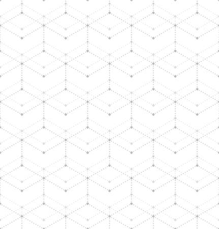 Abstract geometric pattern with rhombuses, points. A seamless vector background. White and gray texture. Graphic modern pattern