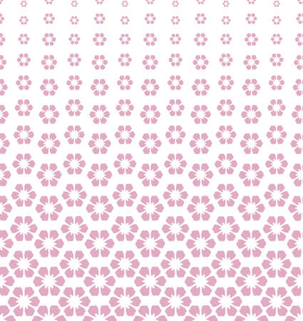 Flower geometric pattern. Vector background. White and pink ornament
