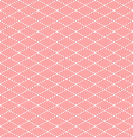The geometric pattern with lines. Seamless vector background. White and pink texture.