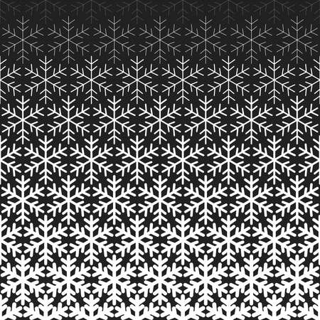 Abstract geometric pattern with snowflakes. Vector background. White and black ornament. Graphic modern pattern