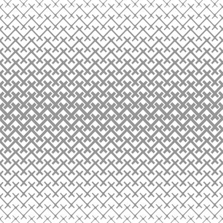 Abstract geometric pattern. Vector seamless background. White and grey ornament. Graphic modern pattern.