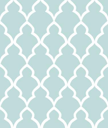 Abstraktes Geometriemuster im arabischen Stil. Nahtloser Vektor Hintergrund. Weiße und blaue grafische Verzierung