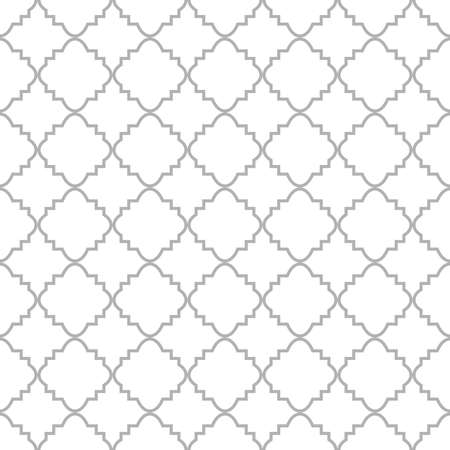 The geometric pattern with lines. Seamless vector background. White and grey texture. Graphic modern pattern. Illustration