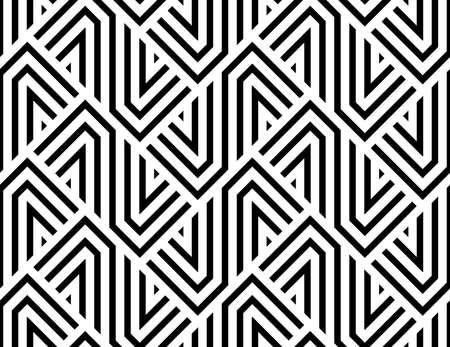 Patrón geométrico abstracto con rayas, líneas. Un fondo de vector transparente. Ornamento blanco y negro Ilustración de vector