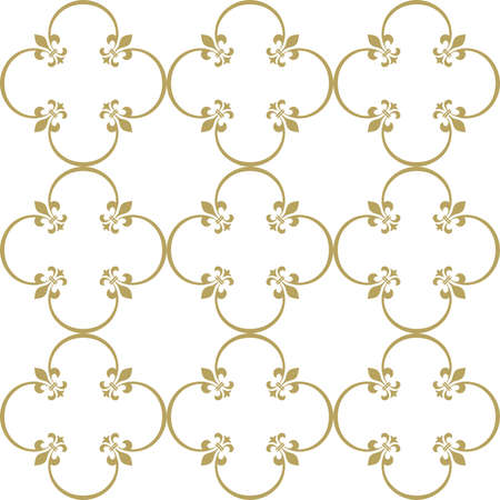 Abstract geometry pattern in Arabian style. Seamless vector background. White and gold graphic ornament