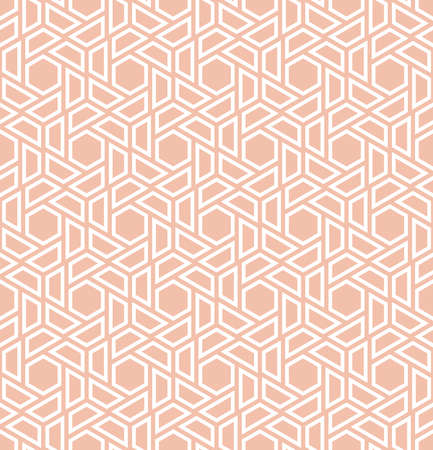 Abstract geometric pattern. A seamless vector background. White and pink ornament. Graphic modern pattern Фото со стока - 97574803
