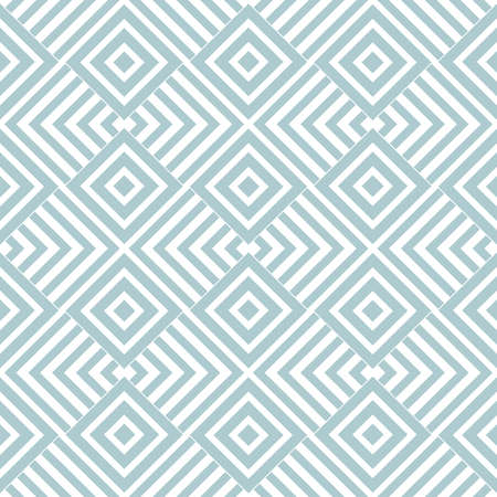 Modern stylish texture with rhombus. Vector seamless pattern. Repeating geometric tiles. White and blue texture Illustration
