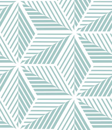 Abstract geometric pattern by lines and stripes. A seamless vector background. White and blue texture. Illustration