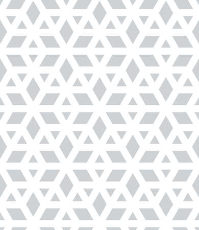 Abstract geometric pattern. A seamless vector background. White and grey ornament. Graphic modern pattern.