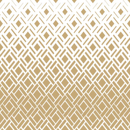 Abstract geometric pattern. Vector background. White and gold ornament. Graphic modern pattern