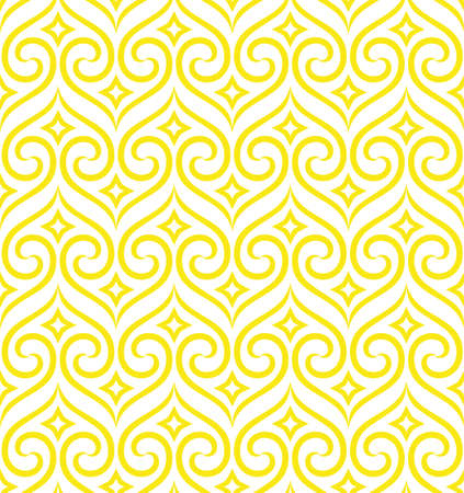 Abstract geometric pattern in white and yellow ornament. Graphic modern pattern