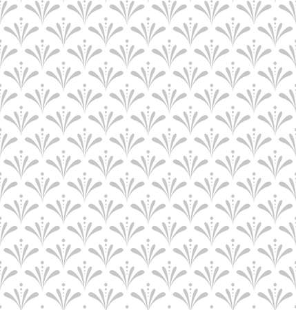 Flower geometric pattern. Seamless vector background. White and grey ornament. Ornament for fabric, wallpaper, packaging. Decorative print.